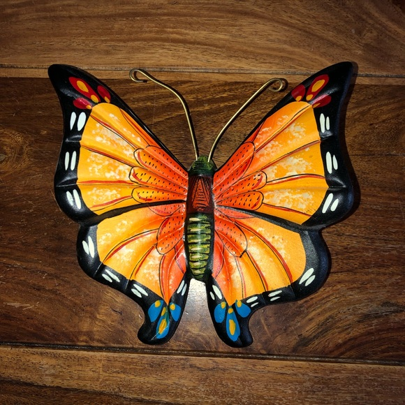 44d2080e3a4a Handmade Vintage Clay Butterfly Decor from Mexico NWT